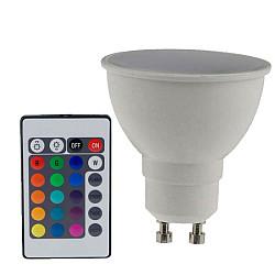 ΛΑΜΠΑ LED 5W RGB+3000K GU10 400LM ΕΝΑΛ. ΧΡΩΜ. (GU105RGBWN)
