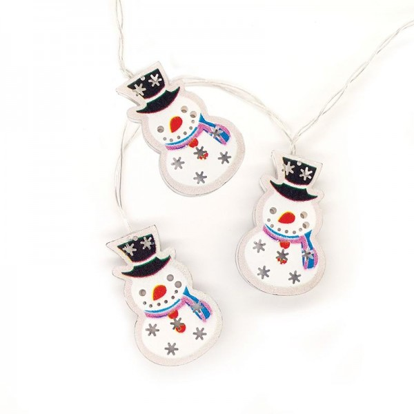 10LED ΛΑΜΠΑΚΙΑ METAL SNOWMAN ΜΕ ΧΡΟΔΙΑΚΟΠΤΗ ( XMSNMAN102AT )