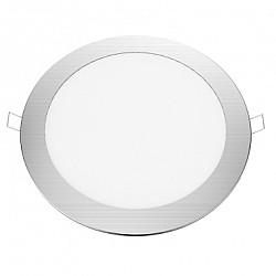 LED PANEL PLATO 18W ΧΩΝΕΥΤΟ Ø22CM ΝΙΚΕΛ MAT 6500K ( PLATO1865RNM )