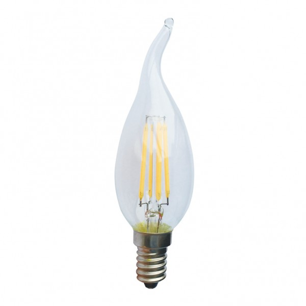 ΛΑΜΠΆ LED FILAMENT DECOR TIP 4W E14 390LM 2700Κ ( DECO4WWTIP )